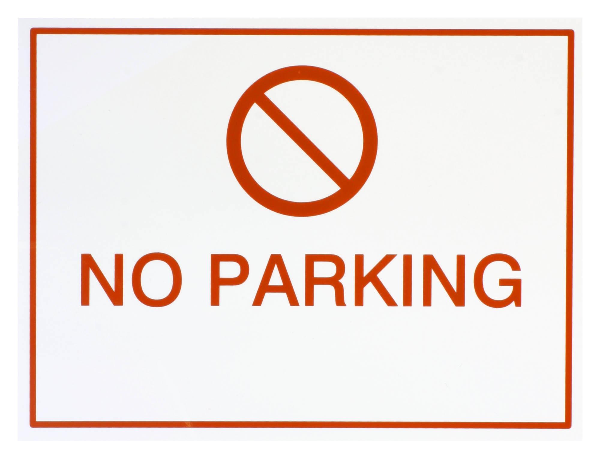 Halfords No Parking Sign Self Adhesive Backing Sticker Symbol
