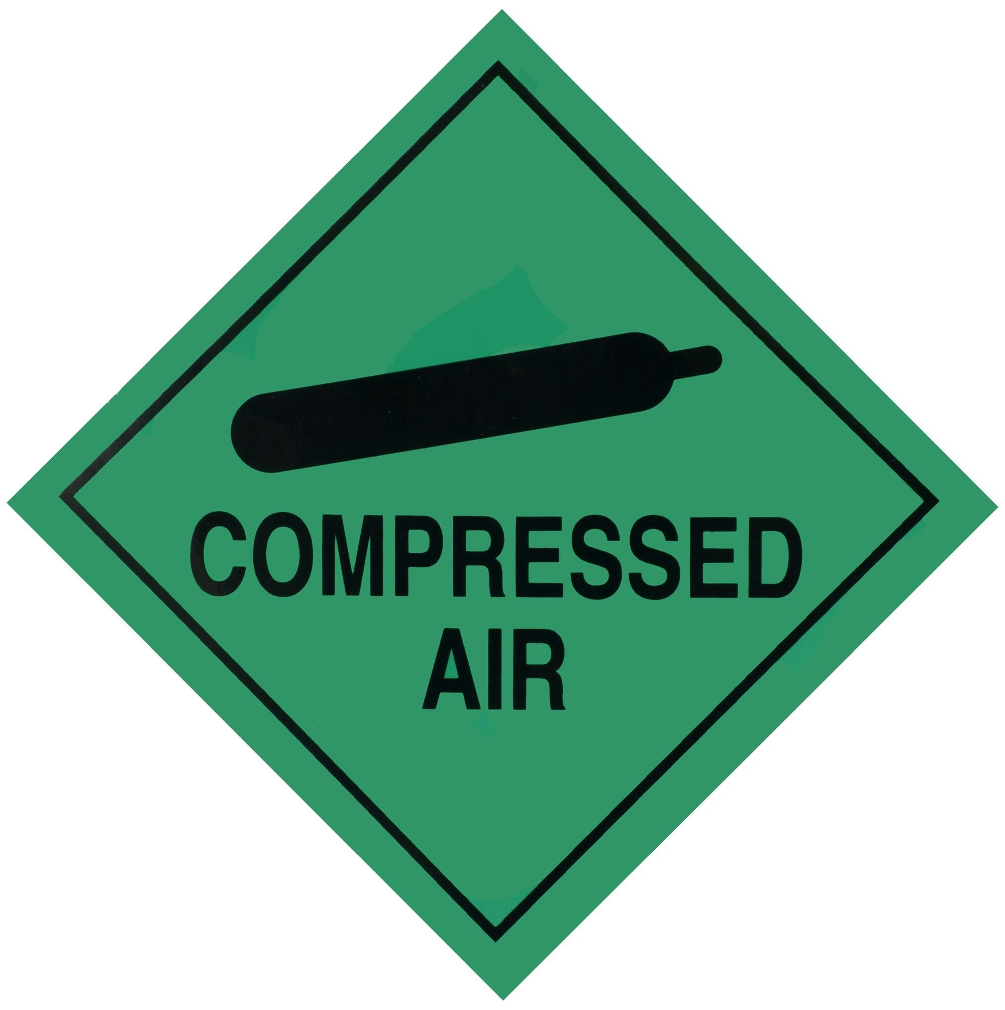 Halfords Compressed Air Sign Self Adhesive Backing Sticker