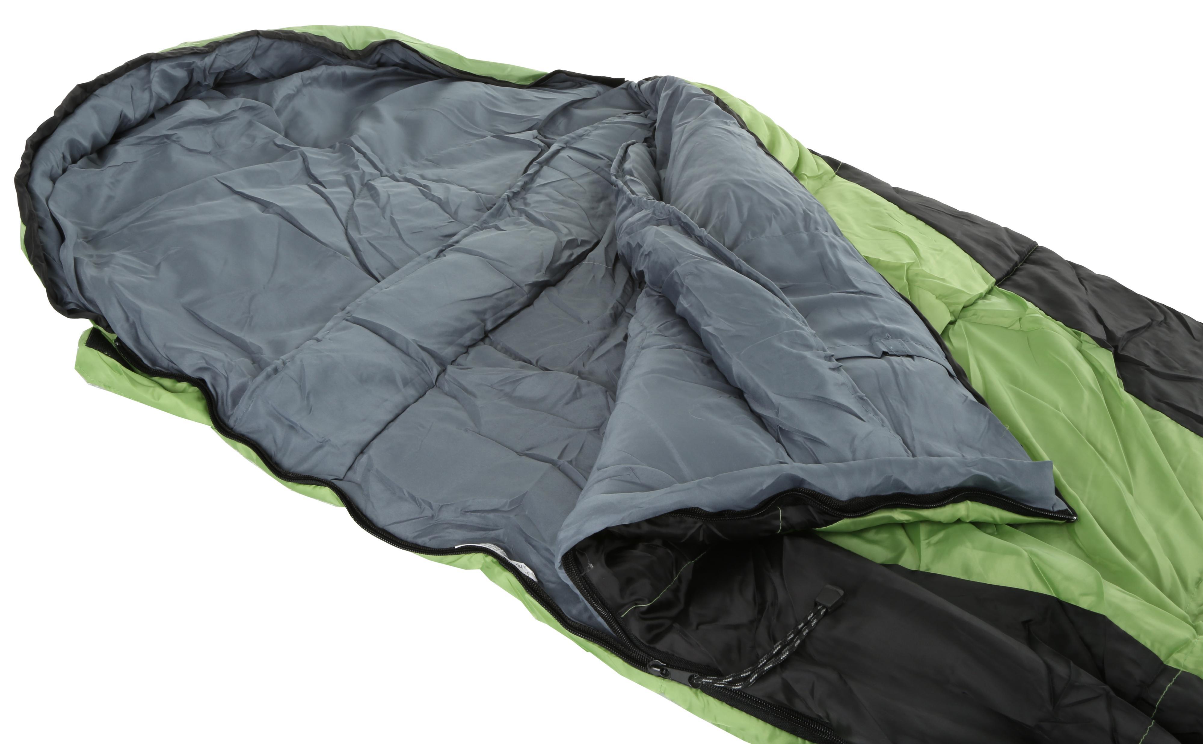 Urban Escape Garda Envelope Sleeping Bag Green Single 3 Season Double Layer