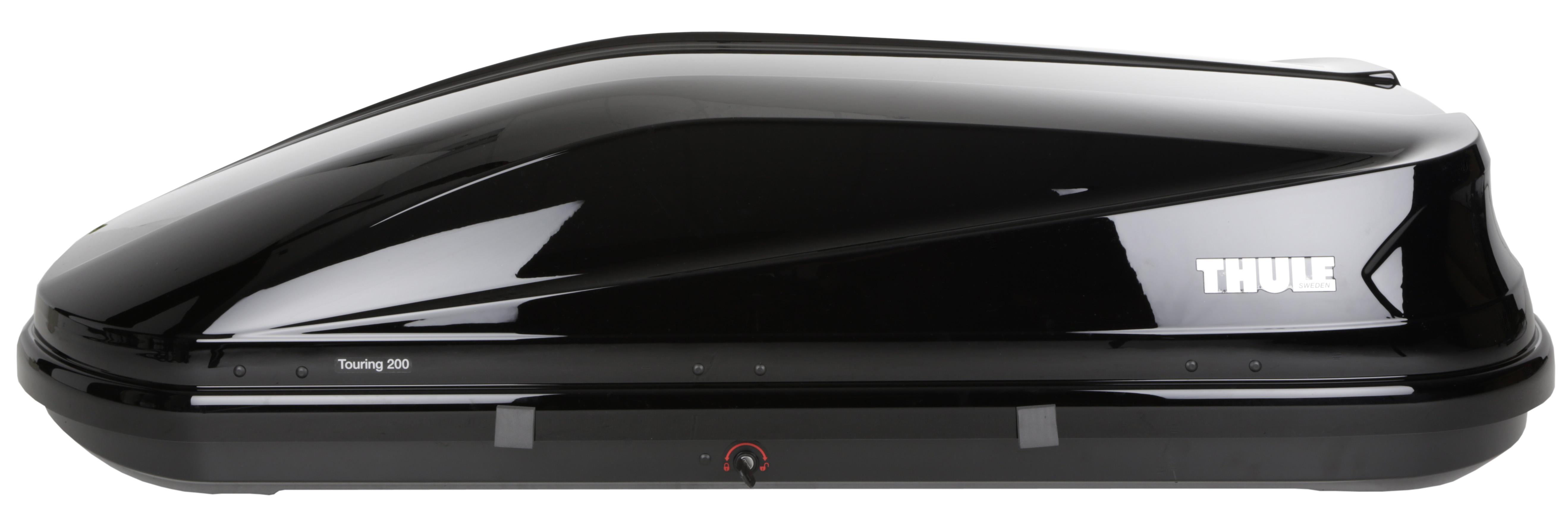thule touring 200 roof box 400l glossy black 50kg dual. Black Bedroom Furniture Sets. Home Design Ideas