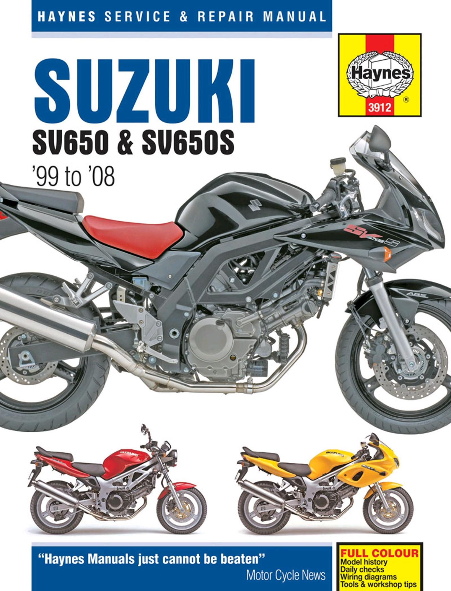 haynes service repair manual suzuki sv650 sv650s 99 08 motorcycle rh ebay co uk suzuki sv 650 service manual pdf sv650 service manual 2017