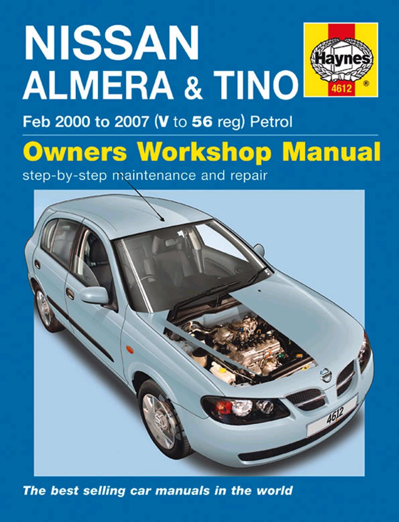 haynes owners workshop manual nissan almera tino 2000 2007 petrol rh ebay co uk nissan almera 2002 haynes manual nissan almera 2002 haynes manual