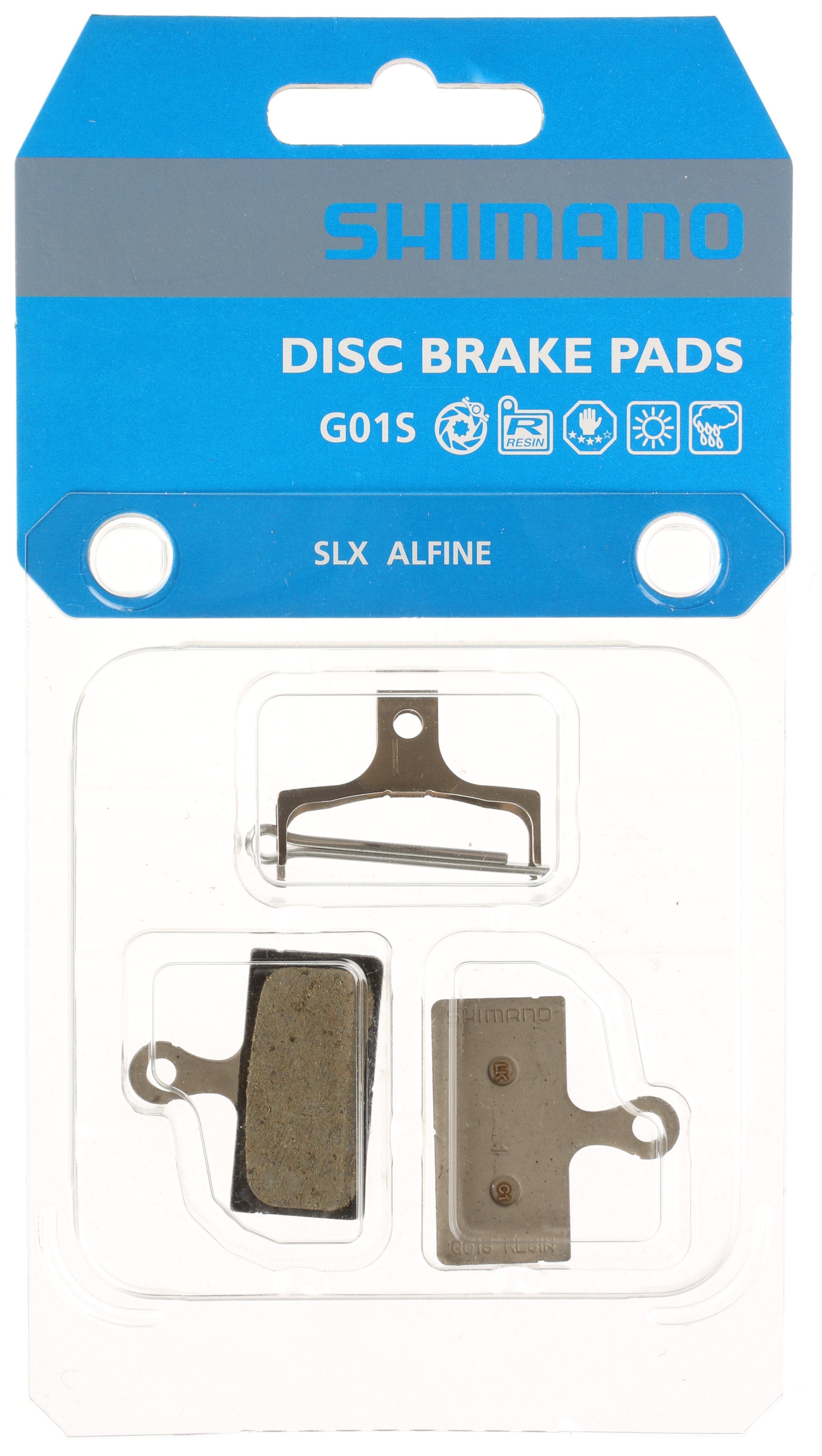 Shimano G01s Br M666 Disc Brake Pads Resin Organic Spring