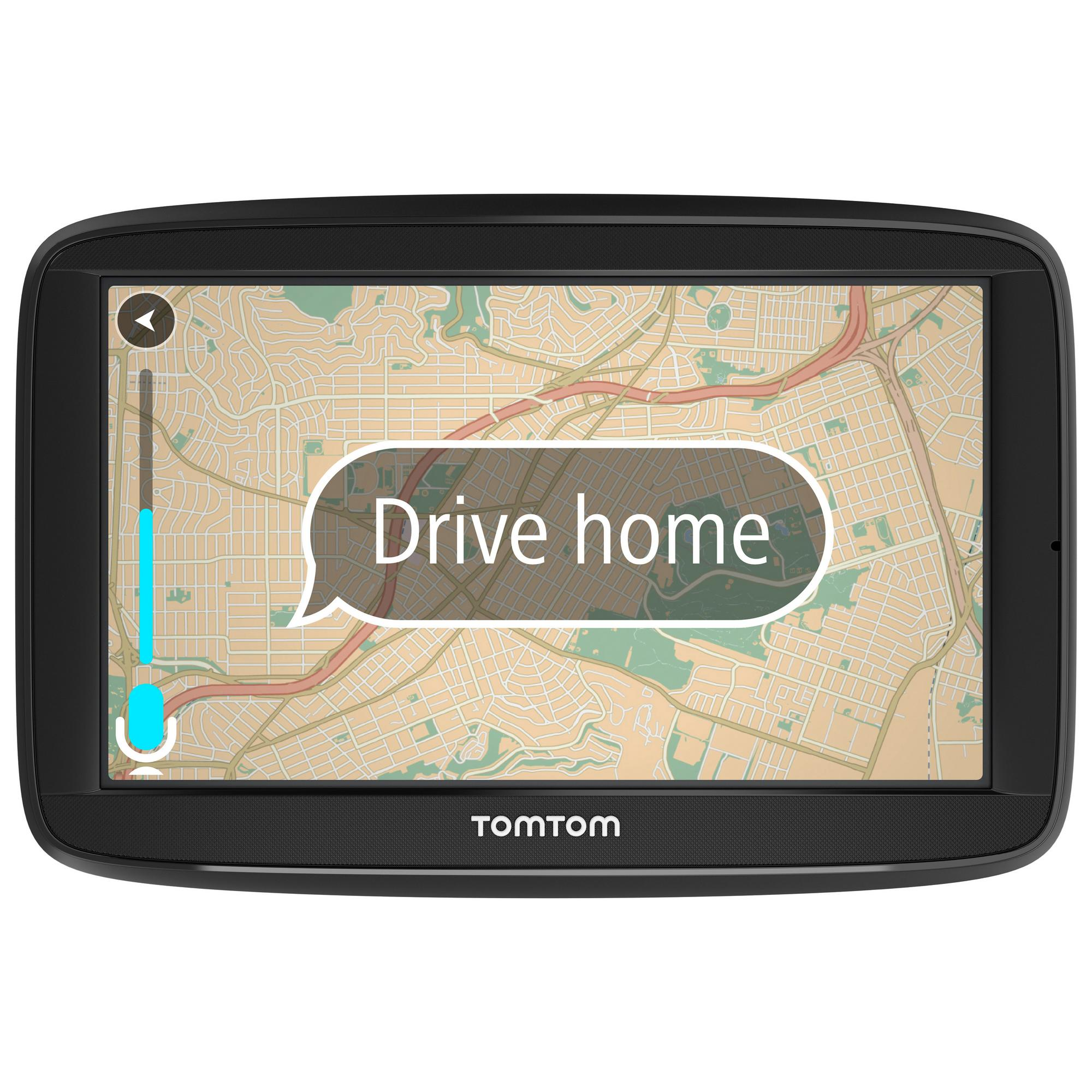 tomtom via 52 5 sat nav uk europe lifetime traffic map. Black Bedroom Furniture Sets. Home Design Ideas
