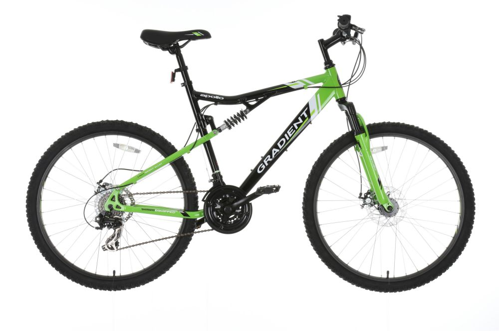 Apollo Gradient Mens Mountain Bike 21 Shimano Gears Disc Brakes 26