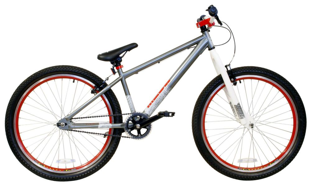 x rated mesh dirt jump bike bicycle 26 inch wheels steel frame in silver - Dirt Jump Frame