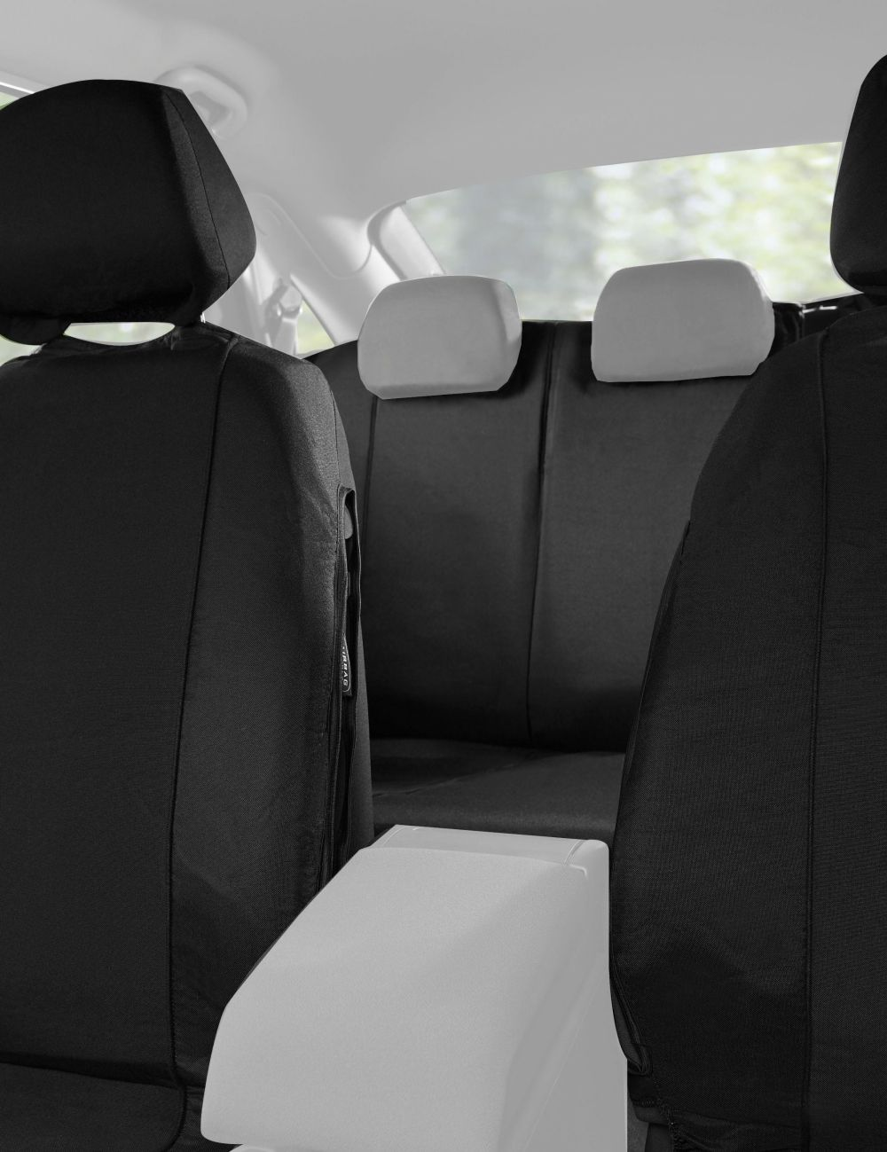 Halfords Car Seat Covers Full Set Black Fabric Universal Protector
