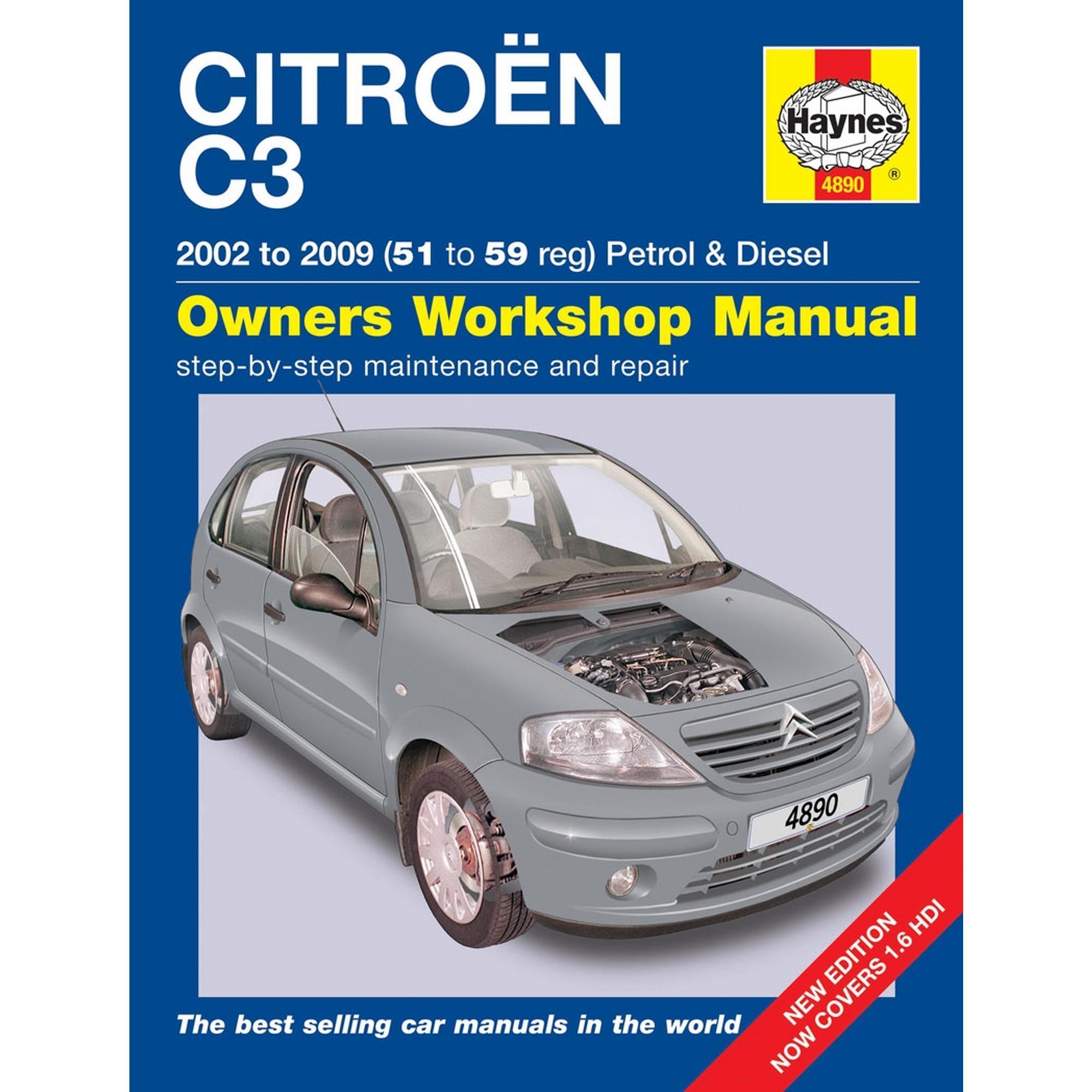 haynes owners workshop manual citroen c3 2002 2009 petrol diesel rh ebay co uk