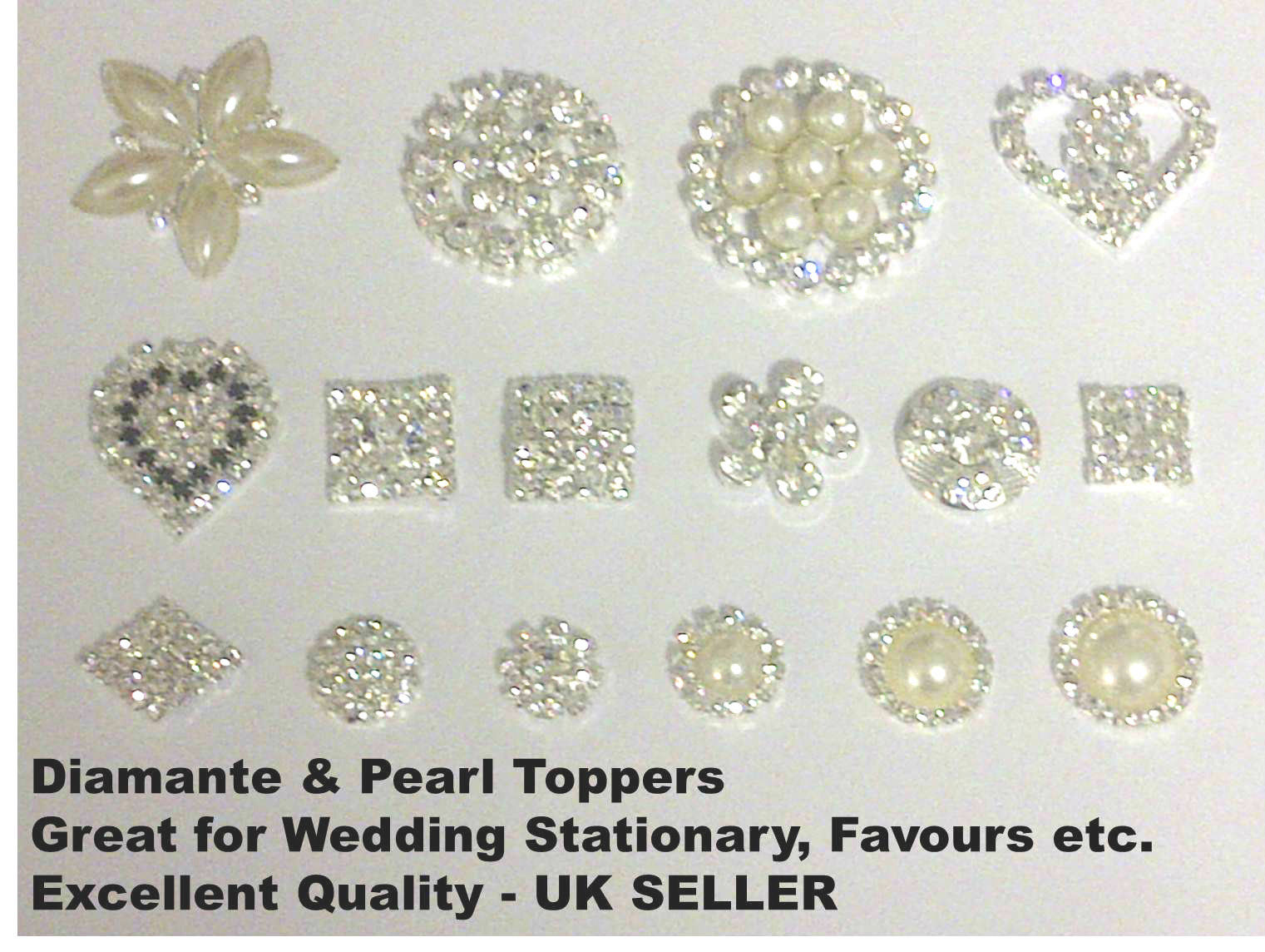 DIAMANTE SELF ADHESIVE EMBELLISHMENTS  HEARTS FLOWERS JEWELS PEARLS