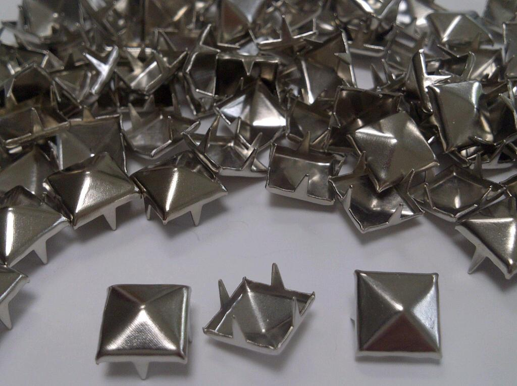 Embellishments stitch on 50pcs 15mm GUN METAL Acrylic CONE SPIKES sew on