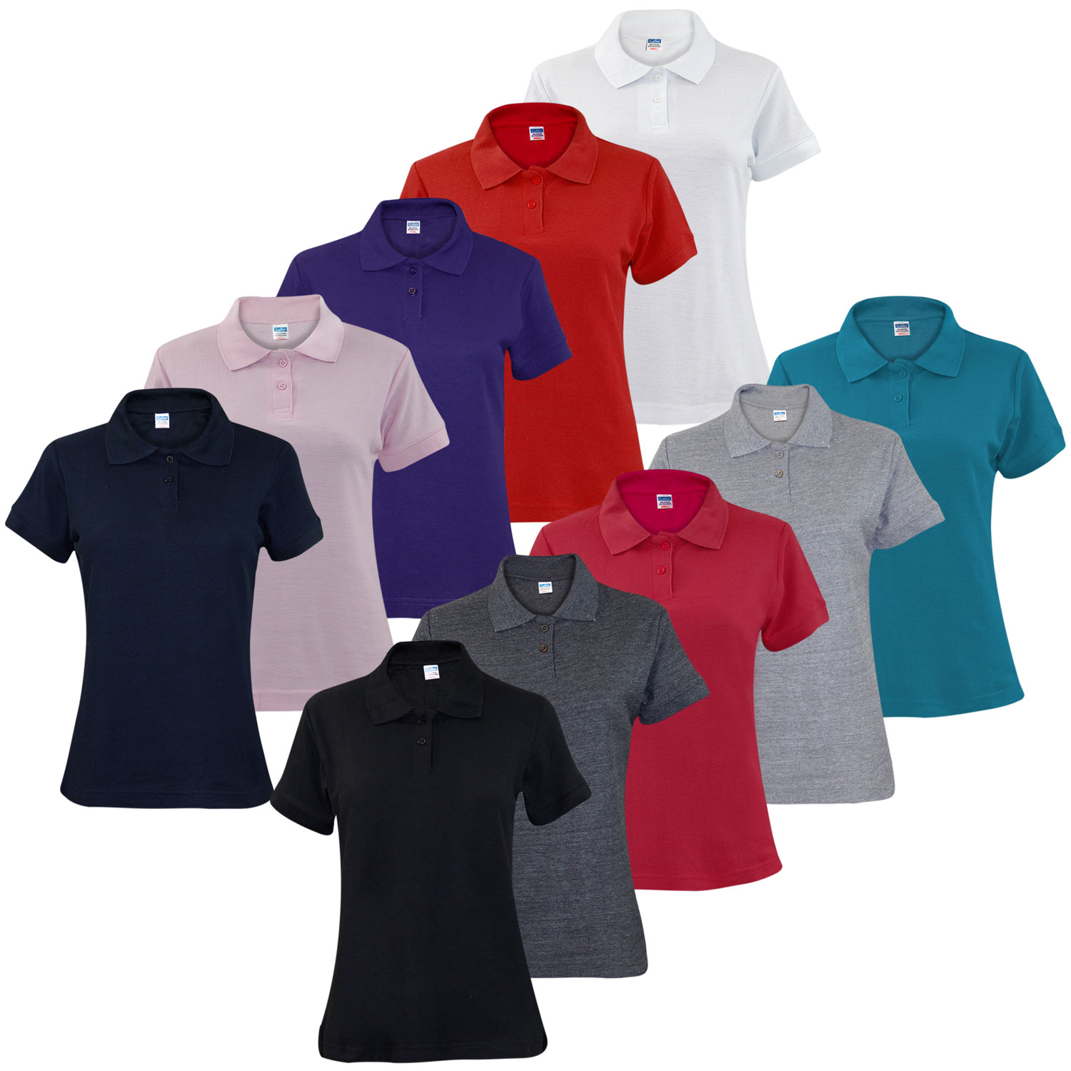 e028081a1e82b New Ladies Pique Polo Shirt PK Tee Collar Neck plus Sizes Women T- Shirt  Top This is Gaffer Brand Poly cotton Short sleeve very soft and medium  weighted ...