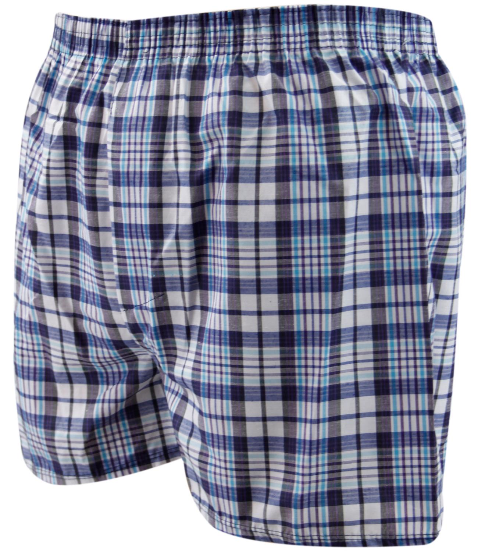6 Pack Mens Woven Check Print Poly Cotton Boxer Shorts Underwear ... c843d8d41e32