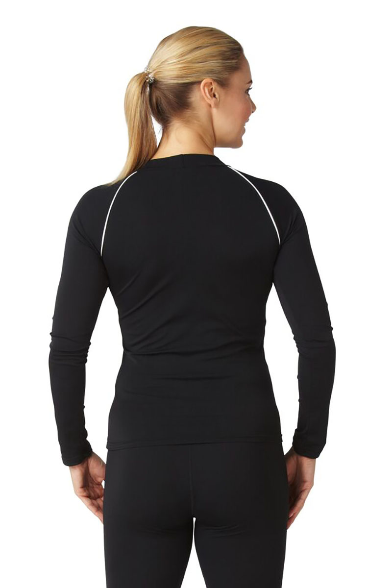 Bohn Swimwear Ladies Long Sleeve High Neck Swim Top Black & Navy 8-24 Plus Sizes Thumbnail 3