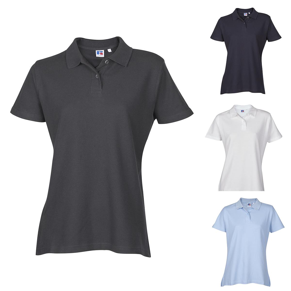 Ladies Womens Polo Tshirt Top Shirt Plain Sports Casual Short Sleeve New  Cotton 1ce7a040da