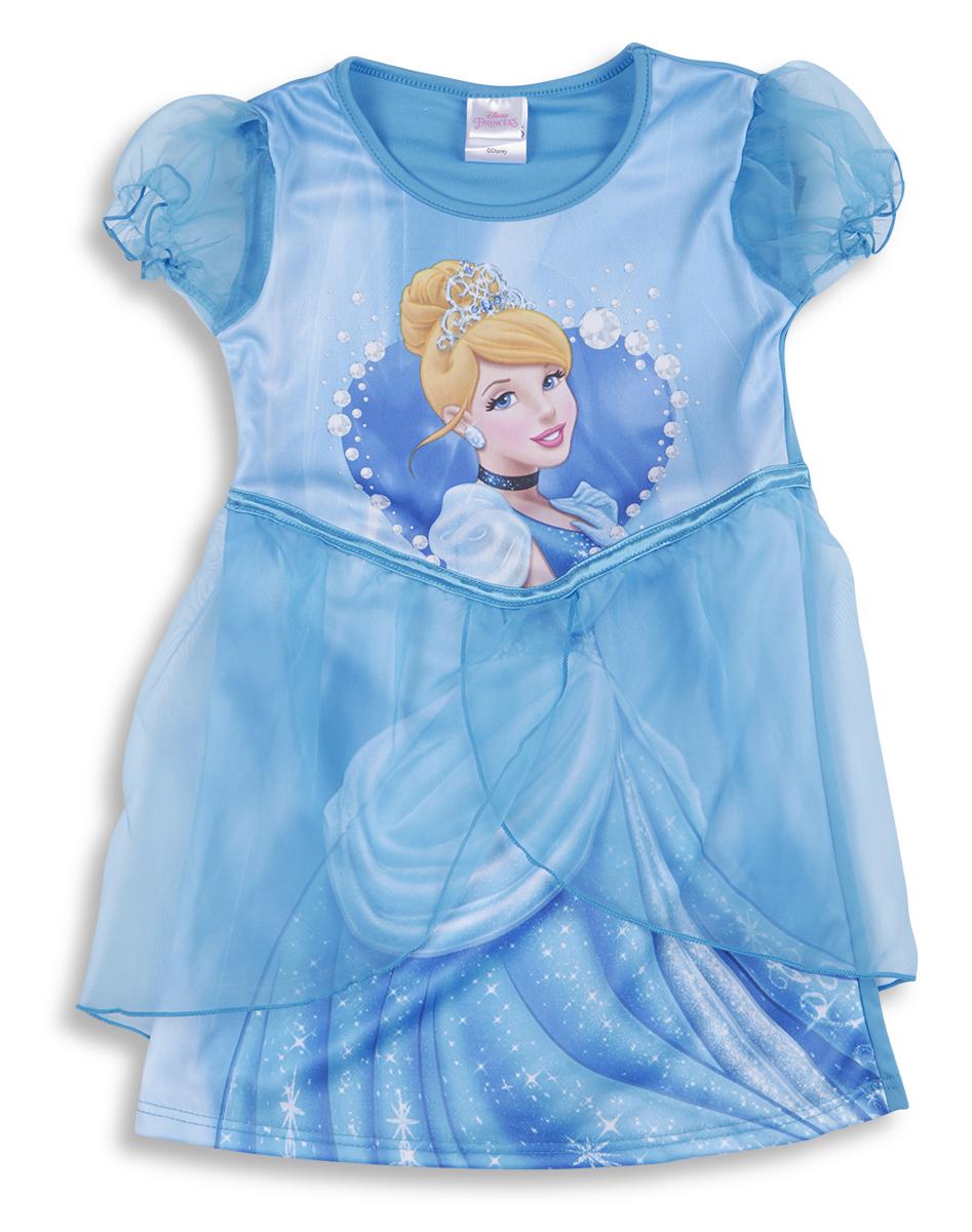 Disney Princess Cinderella Girls Kids Fancy Dress Up Costume Party ...
