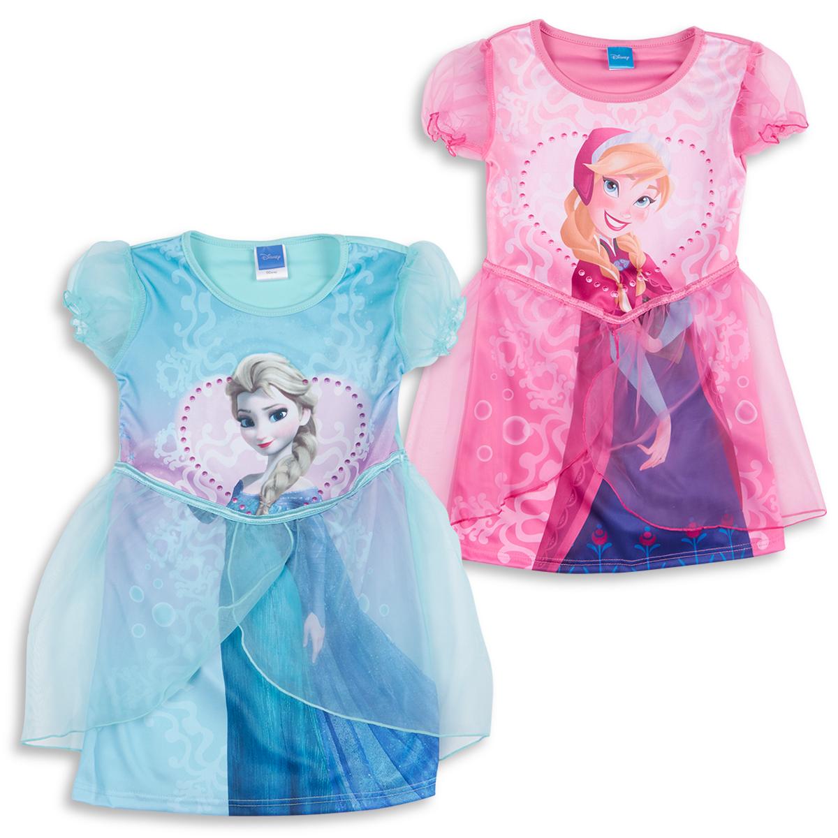 Disney Princess Frozen Girls Fancy Dress Up Costume Elsa Anna Party ...