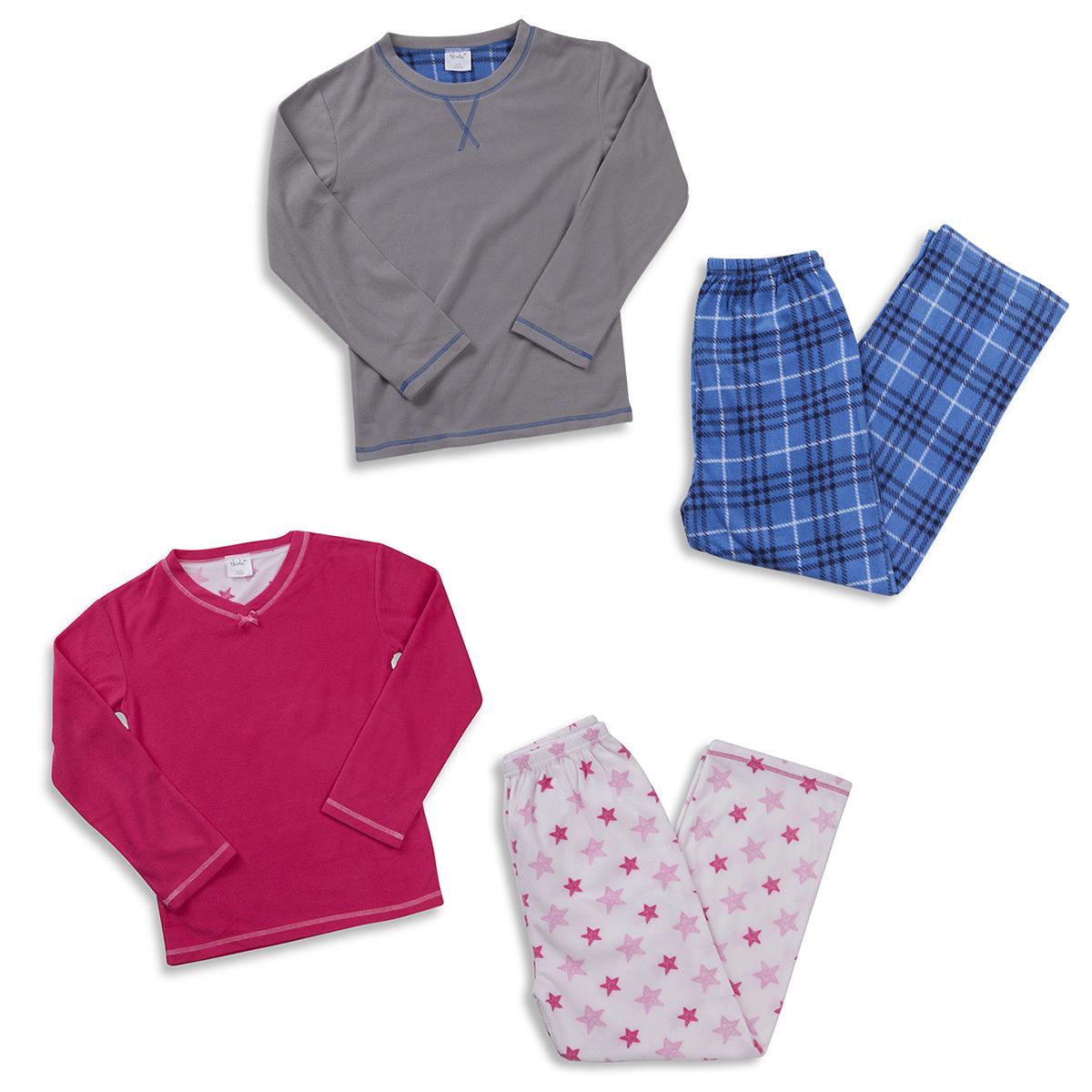 a972197a9 Details about Kids Micro Fleece Pyjama Set Top Bottoms Boys Girls Nightwear  Age 7-13 Years NEW