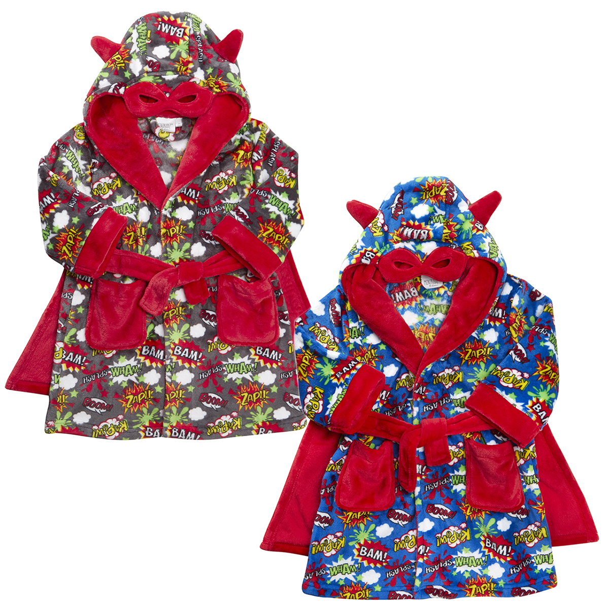 Toddler Childrens Boys Novelty Comic Book Dressing Gown Robe Night ...