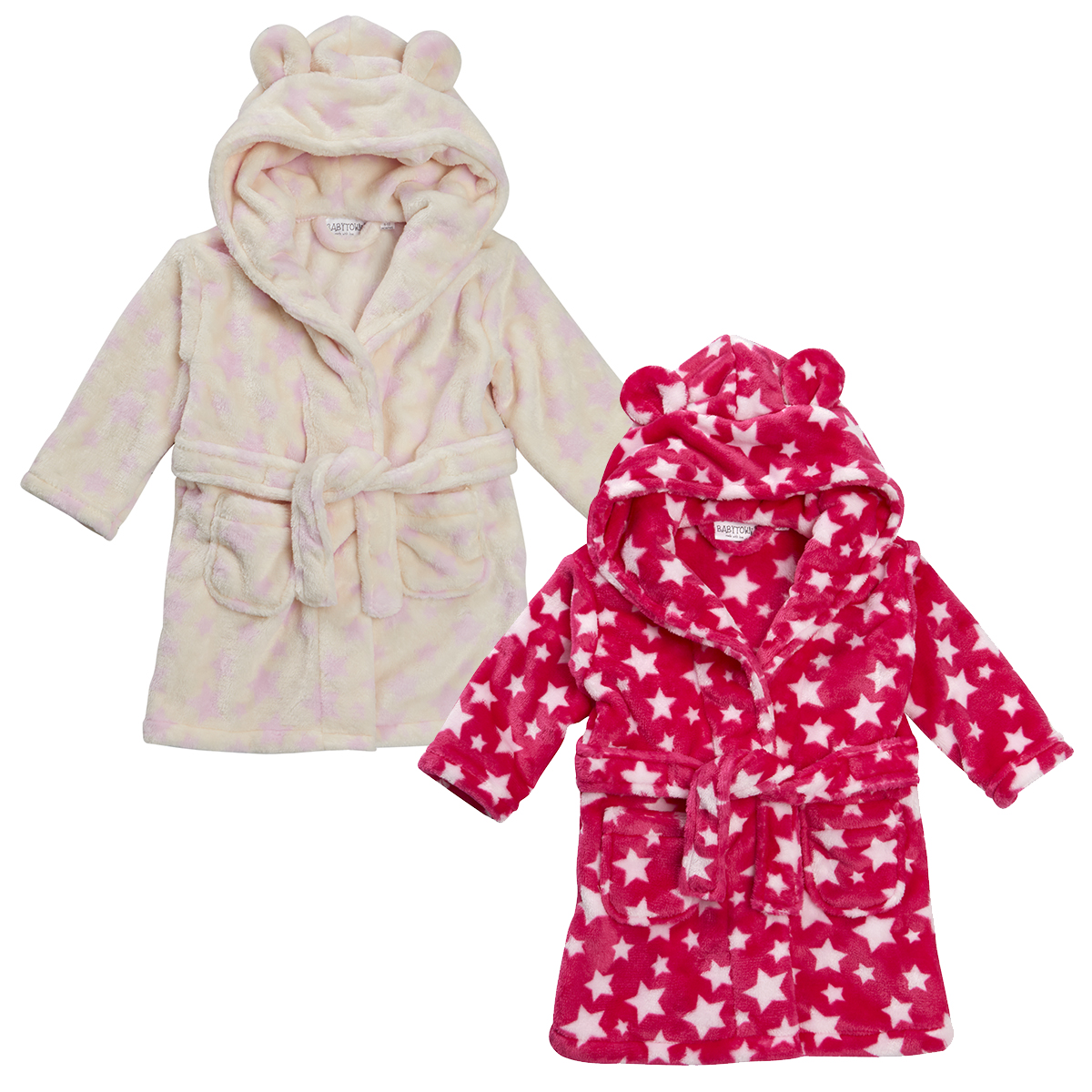 Kids can get cozy in our plush bathrobes and hooded ponchos for boys and girls. These are the perfect addition to a favorite pair of pajamas. Ponchos are made from soft fabrics and often feature your little one's favorite movie characters.