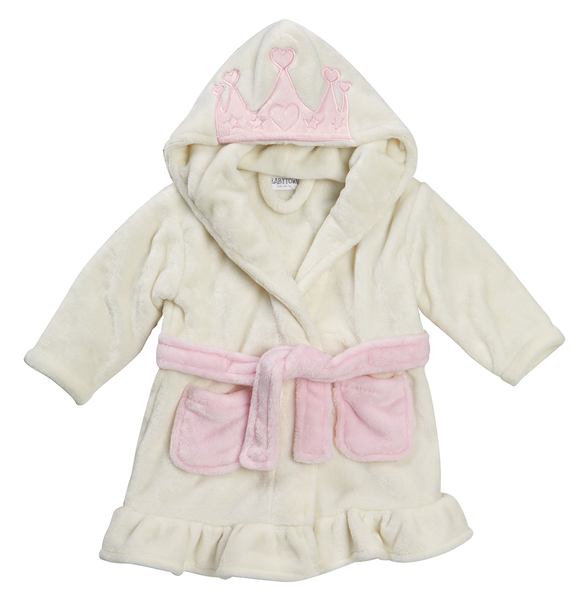 Infant Baby Girls Dressing Gown Novelty Fairy Princess Hooded Fleece ...