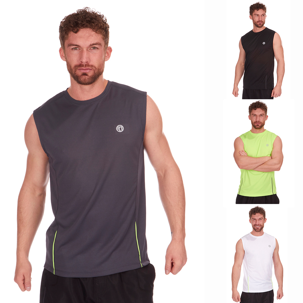 3667e9ed0084c Mens Activewear Sleeveless Sports Top Running Training Gym Vest Tank Top  Summer