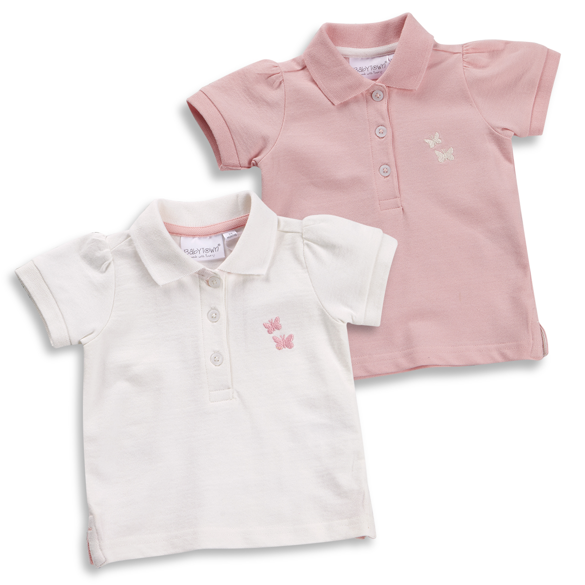 2aff5777 Infant Baby Girls Butterfly Equestrian Polo T-Shirt Top Short Sleeve 3-24  Months