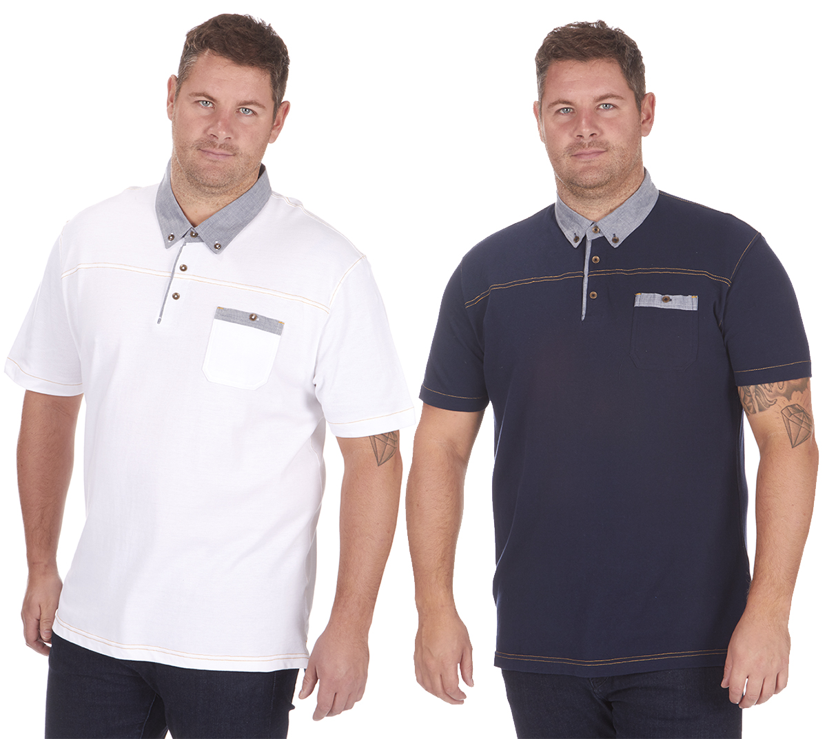 Details about Mens Plus Big Size Pique Polo Shirt T-Shirt Top Short Sleeve Casual King 3XL-5XL