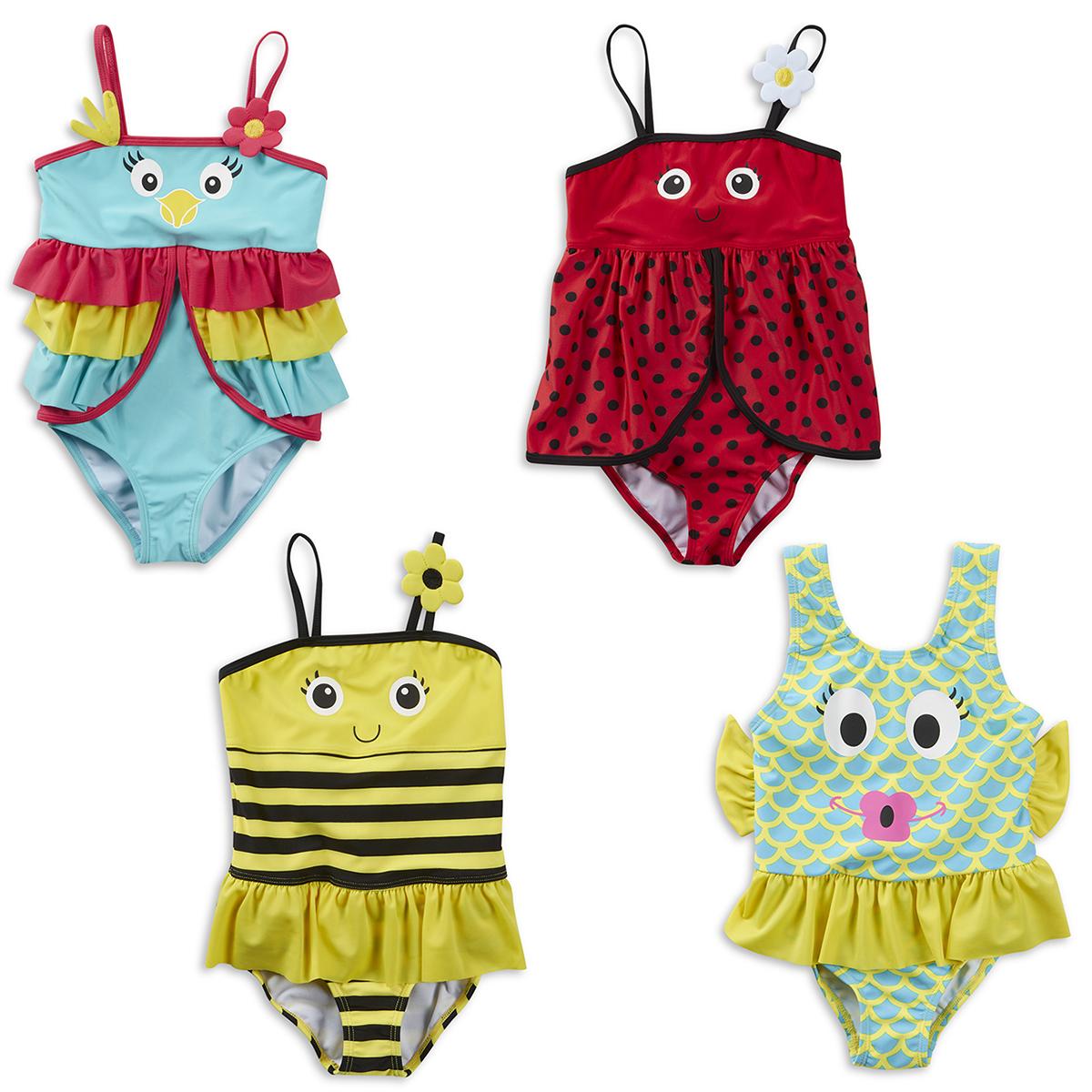 68659a628d Infant Girls Novelty Swimwear Swimming Suit Swim Costume 2-6 Years New  MINIKIDZ