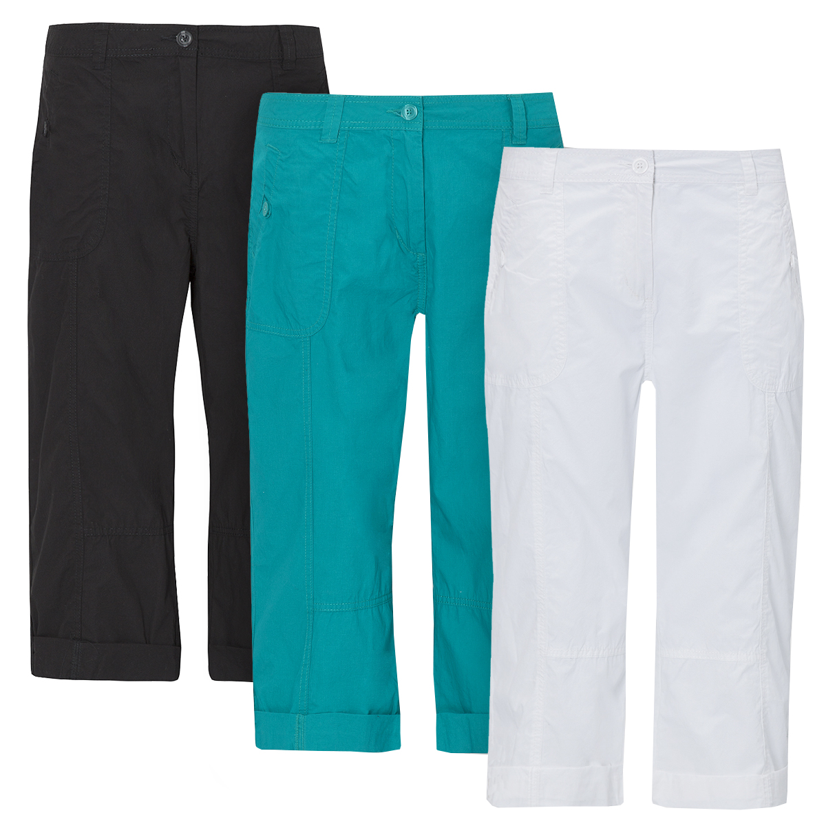 Our range of ladies cotton trousers are perfectly tailored to the natural curves of your body to provide an extremely comfortable fit and feel whenever you choose to wear them, any day of the week.