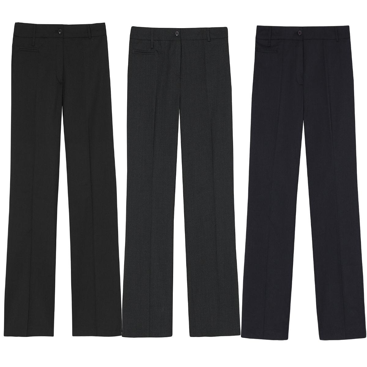 ladies womens work trousers office formal straight leg. Black Bedroom Furniture Sets. Home Design Ideas