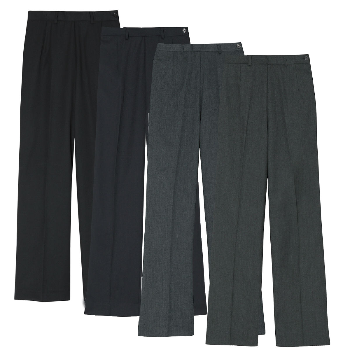 women 39 s flat front work trousers sizes 8 14 bootleg. Black Bedroom Furniture Sets. Home Design Ideas