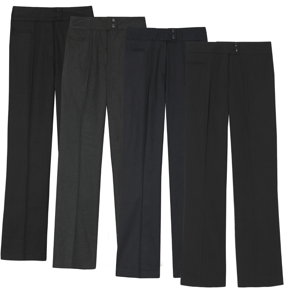 d8a641a7c0694 Ladies Plus Size Straight Leg Work Trousers (Sizes 16-26) Formal Office  Pants