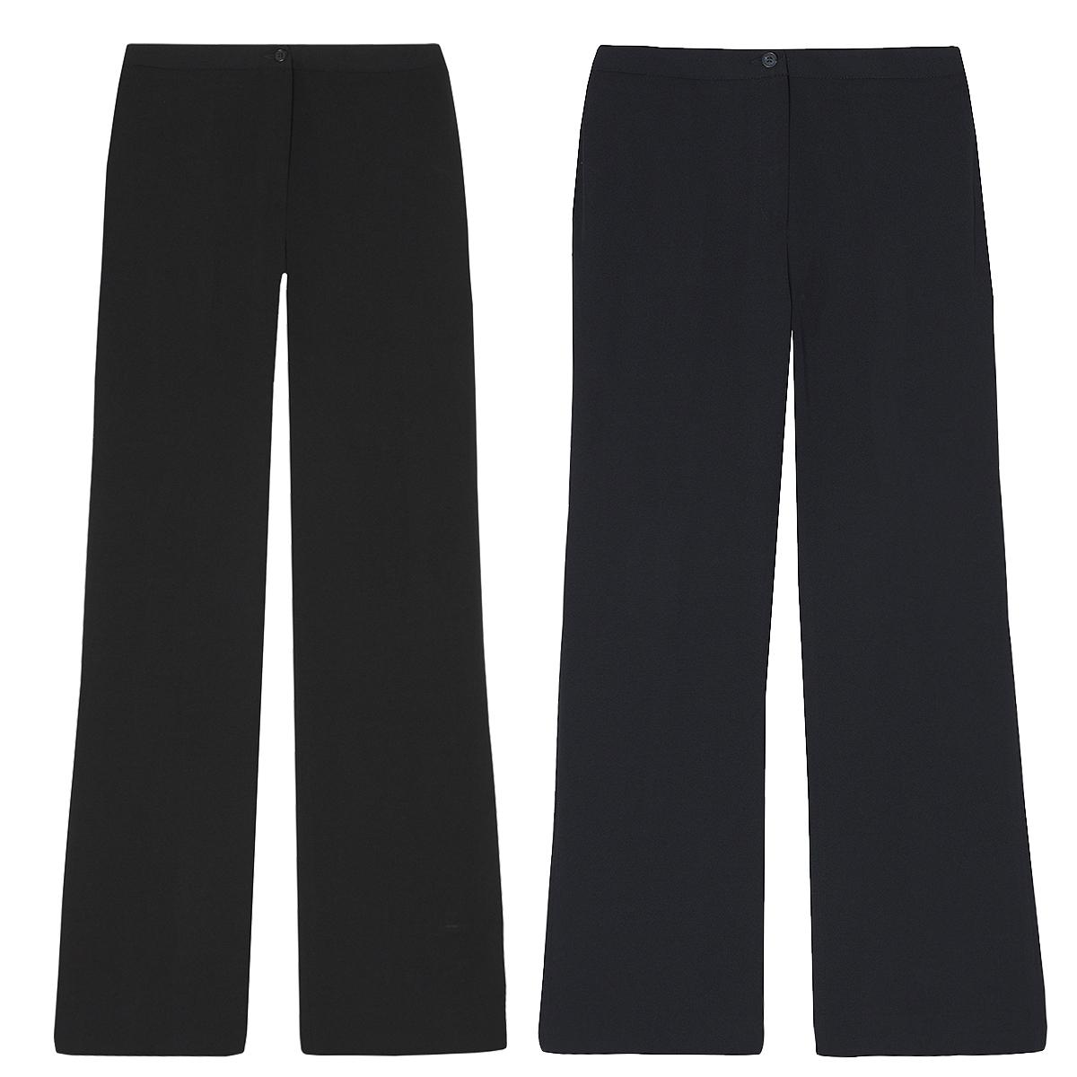 5a01a7d0bcc193 Ladies Womens Boot Cut Trousers Straight Leg Work Pants Office Smart Plain  Light