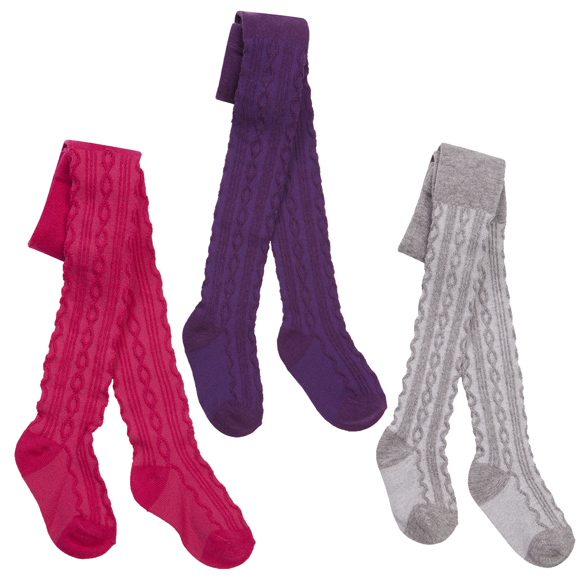 Baby Girls Plain Knitted Cotton Rich Warm Tights