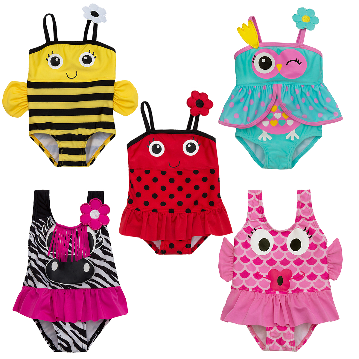 85c6d535cd5ad Baby Girls Swimwear Novelty Swim Bathing Suit Swimming Beach Costume Fun  Outfit