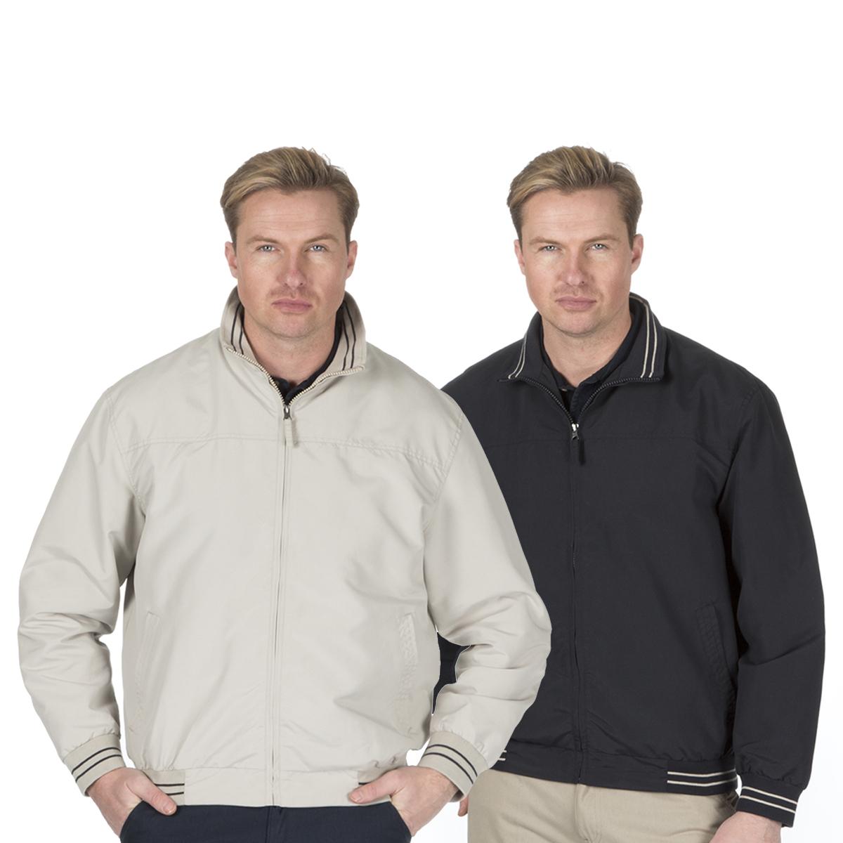 98c7a8370 Details about Men's Microfibre Bomber Jacket Zip Up Coat Harrington Classic  Summer Golf Light