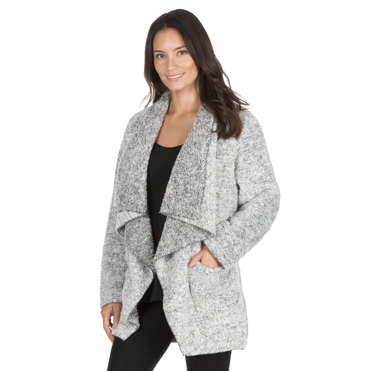 Womens Ladies Waterfall Top Coat Shrug Lounge Cardigan Snuggle ...