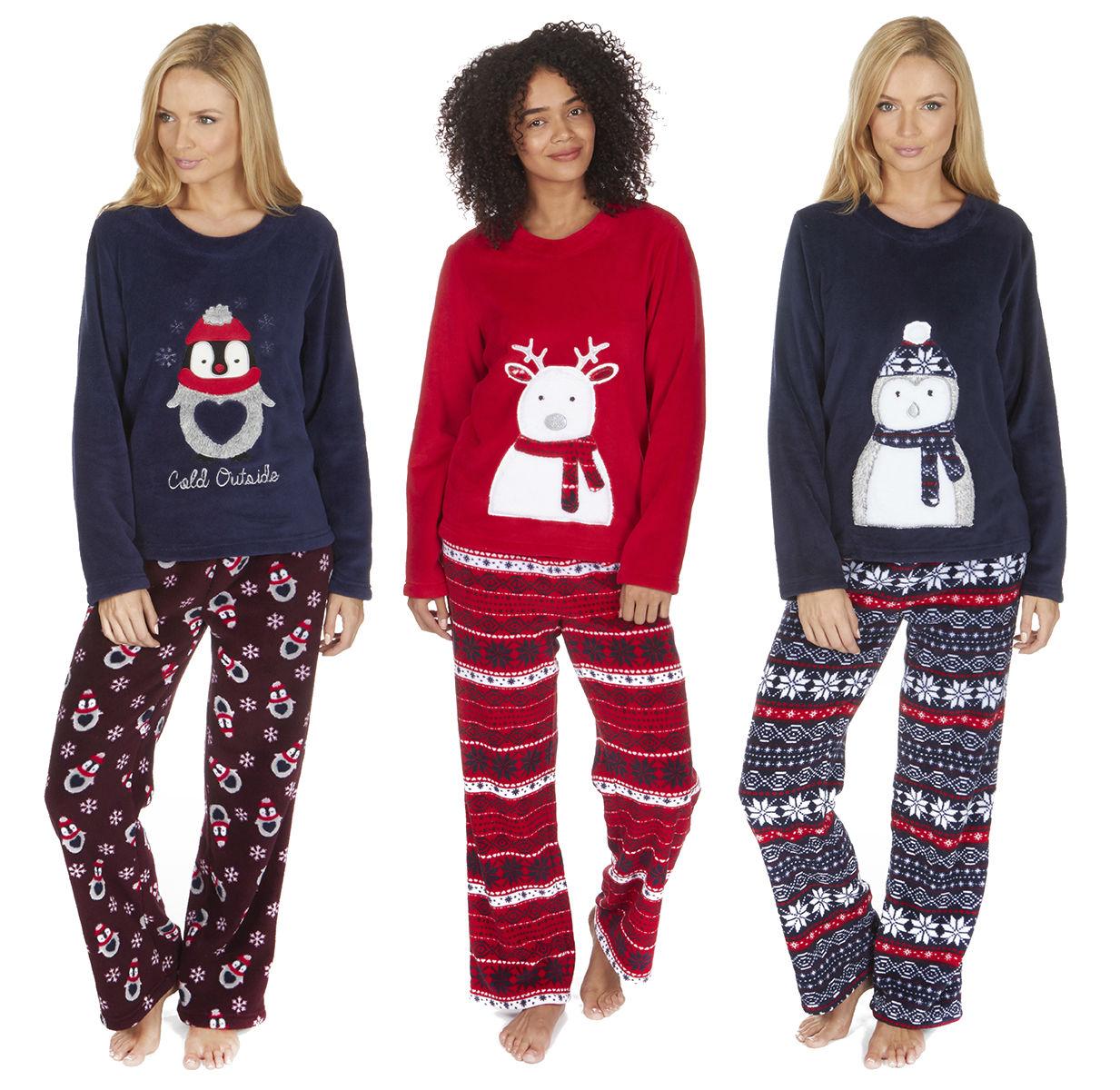 Christmas Pj.Details About Women S Coral Fleece Christmas Pj Pajama Set Nordic Fairisle Forever Dreaming