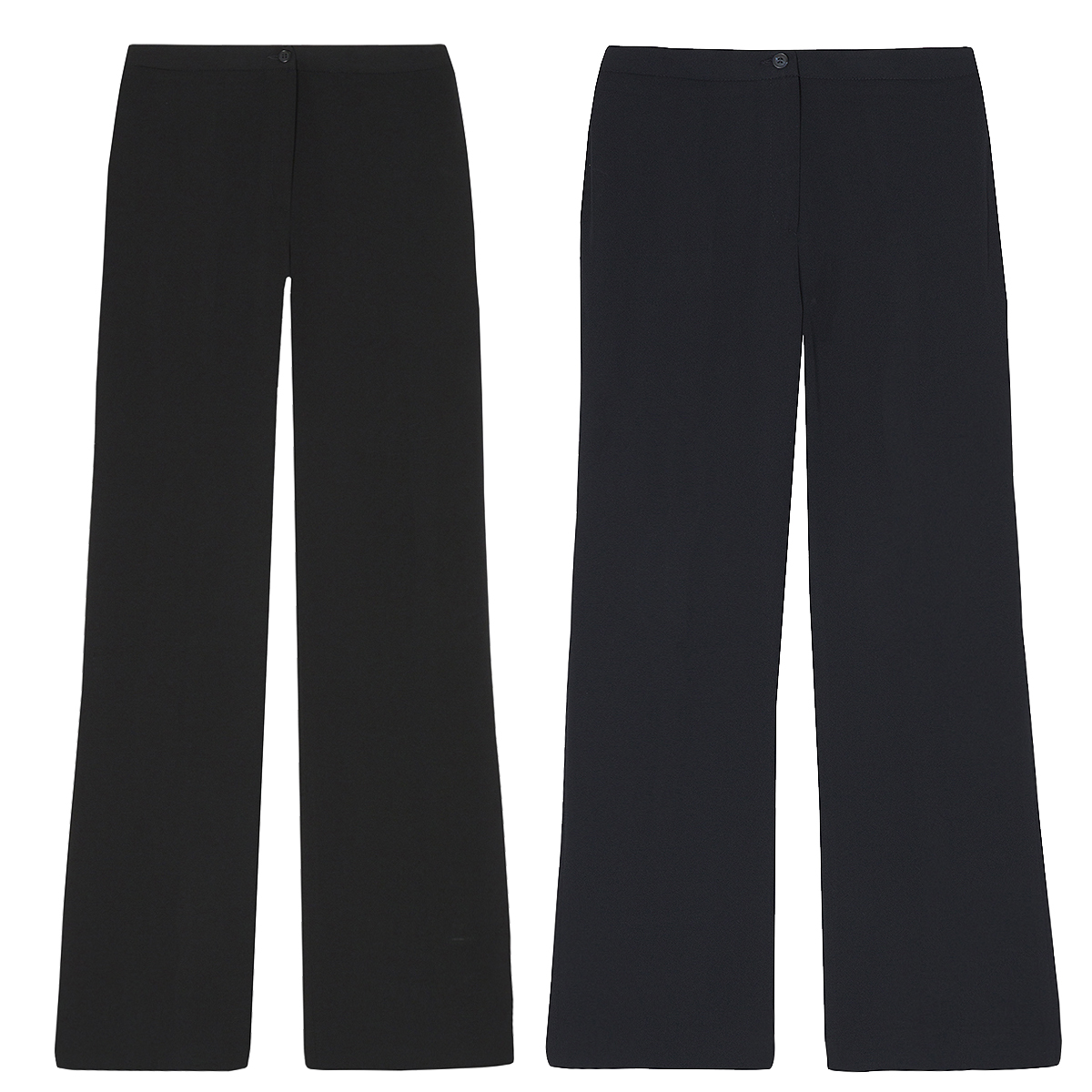 1772d543468fb Ladies Womens Boot Cut Trousers Big And Tall Plus Size Straight Leg Work  Pants
