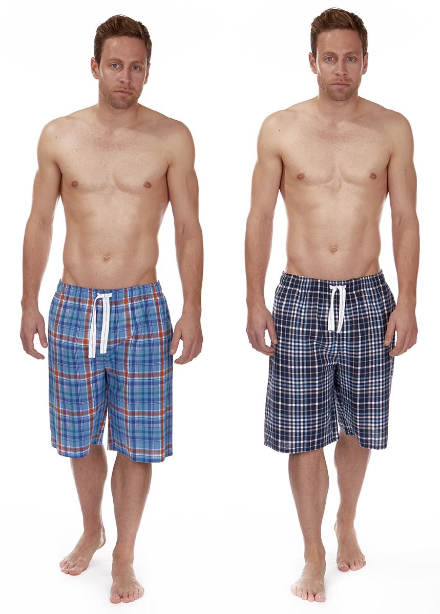 Cargo Bay Mens Jersey Lounge Shorts with Short Sleeve T Shirt Pajamas Set