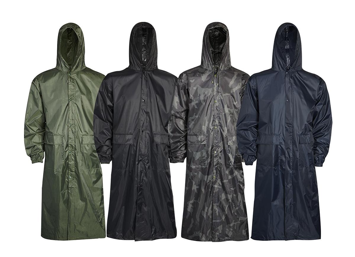 Mens Ladies Unisex Long Waterproof Raincoat Hooded Mac Coat ...
