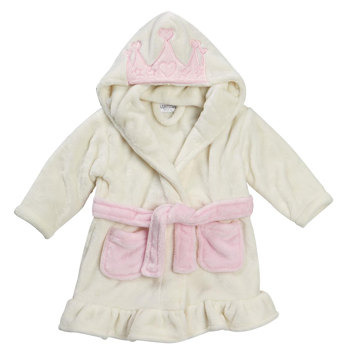 BABYTOWN Infant Baby Girls Fleece Night Gown Hooded Princess Bath ...