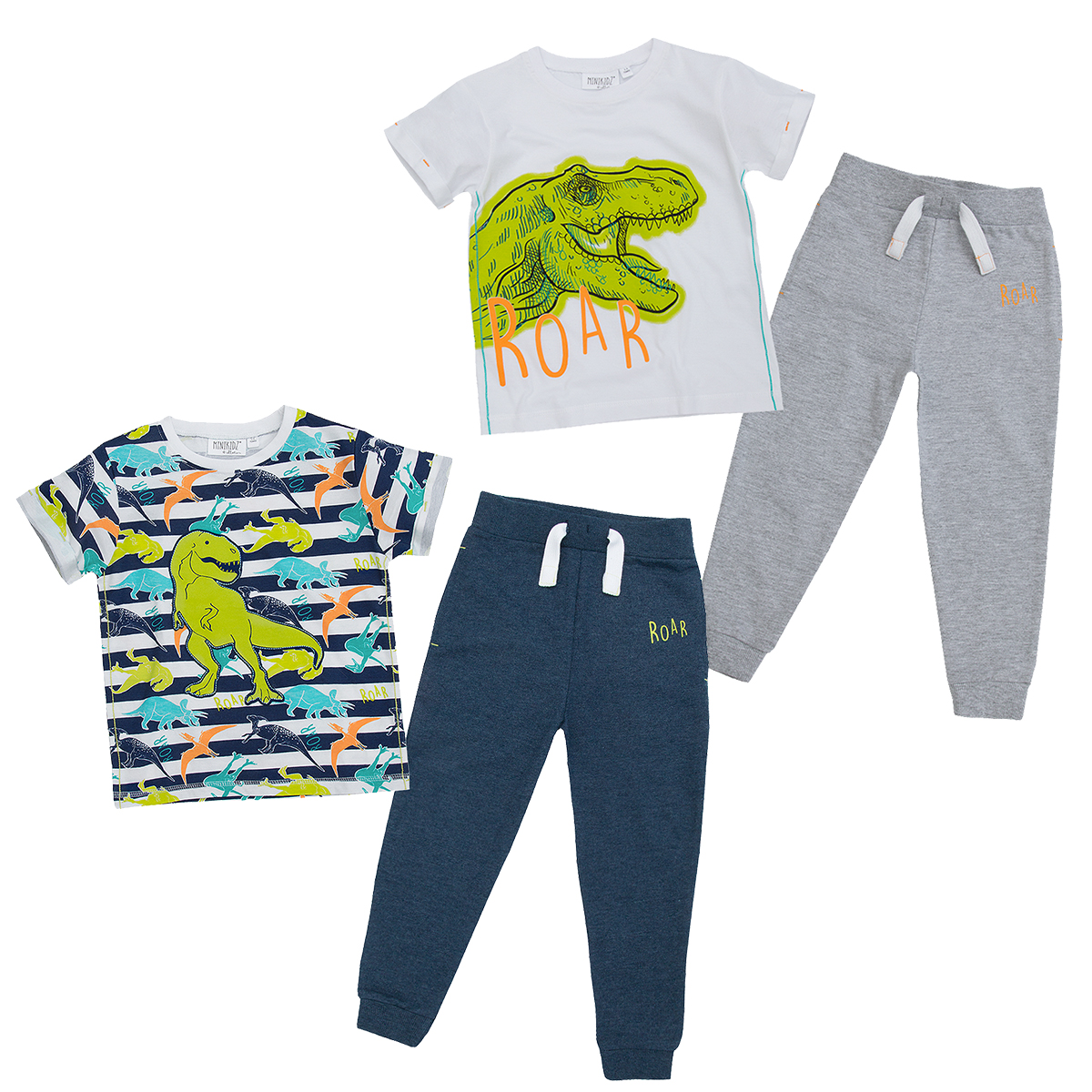 Baby Boys Cotton T-shirt Top Geometric Tracksuit Joggers Trousers Outfit Set