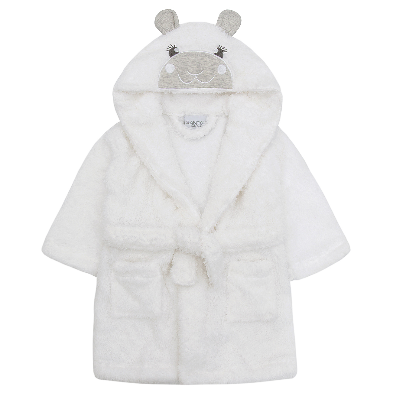bd014f0817a30 Baby Boys Girls Snuggle Lamb Dressing Robe Fleece Hooded Unisex Gown  Novelty New