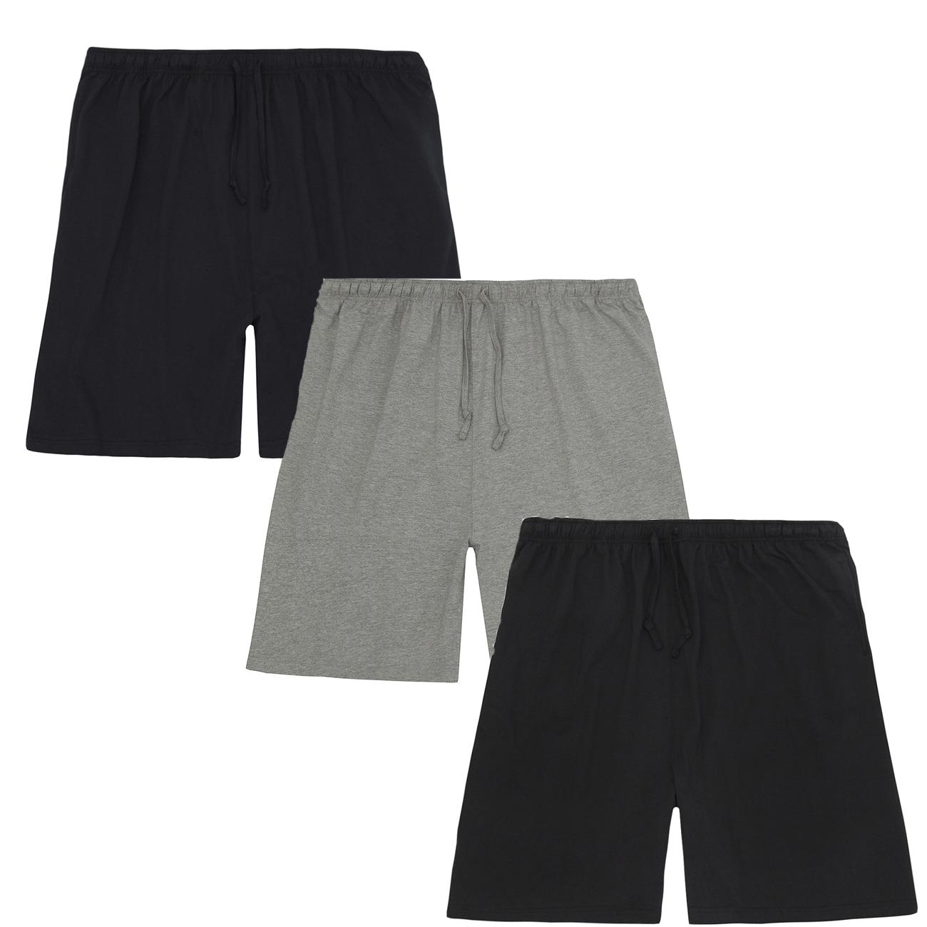 Mens Big Plus Size Jersey Gym Casual Cotton Shorts Bottoms Size 3XL 4XL 5XL