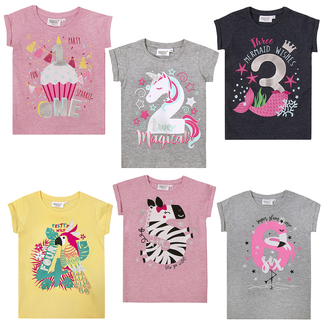 GIRLS PERSONALISED FLORAL PRINT HORSE T-SHIRT CHILDRENS PONY T SHIRT AGES 1-12
