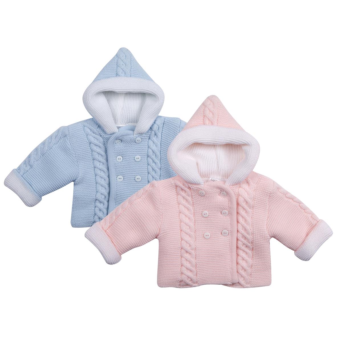 792ee0652aa0 Baby Babies Girls Boys Pram Coat Hooded Cardigan Chunky Knitted ...