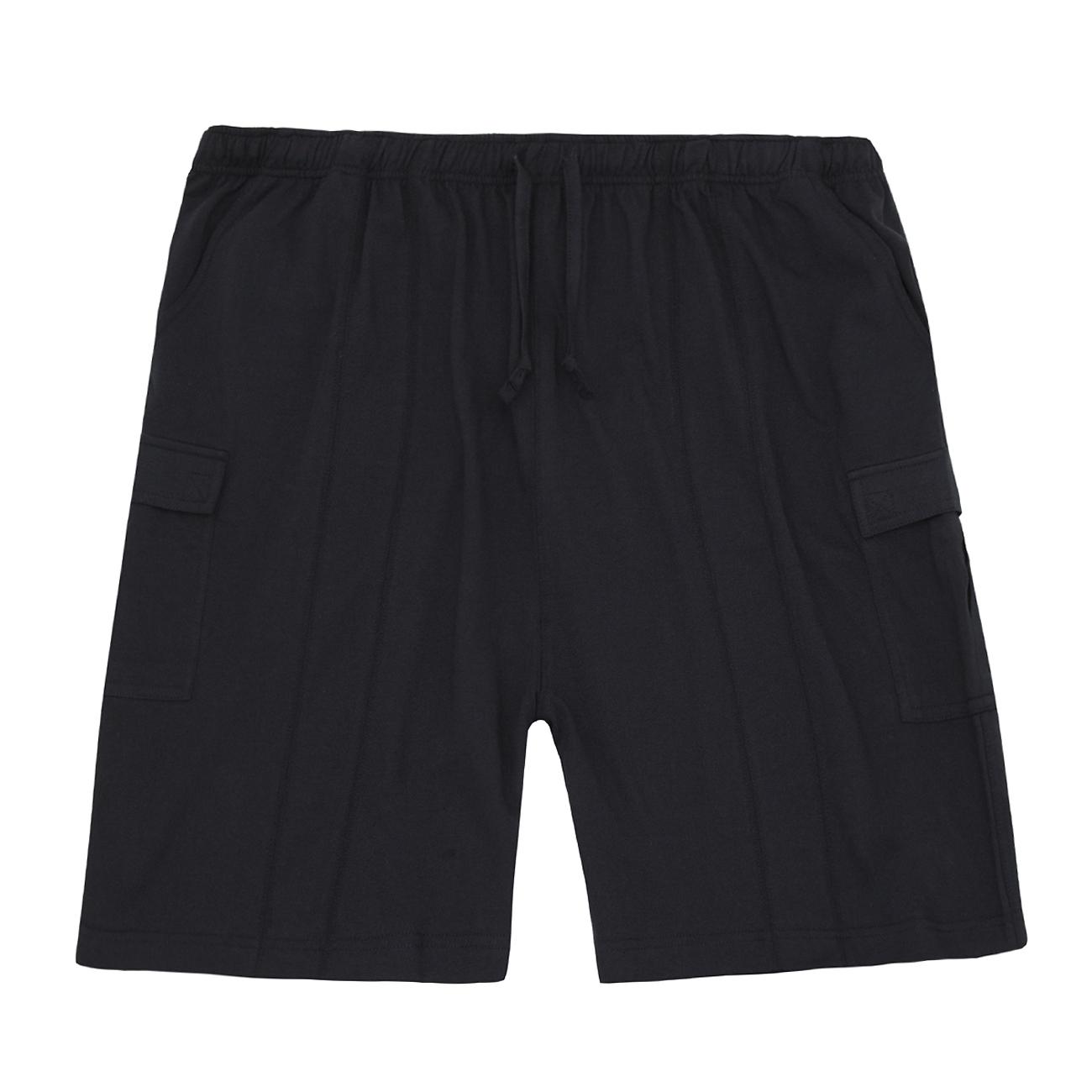DRSLPAR Mens Casual Plaid Shorts Big and Tall Cargo Shorts Drawstring with Blue