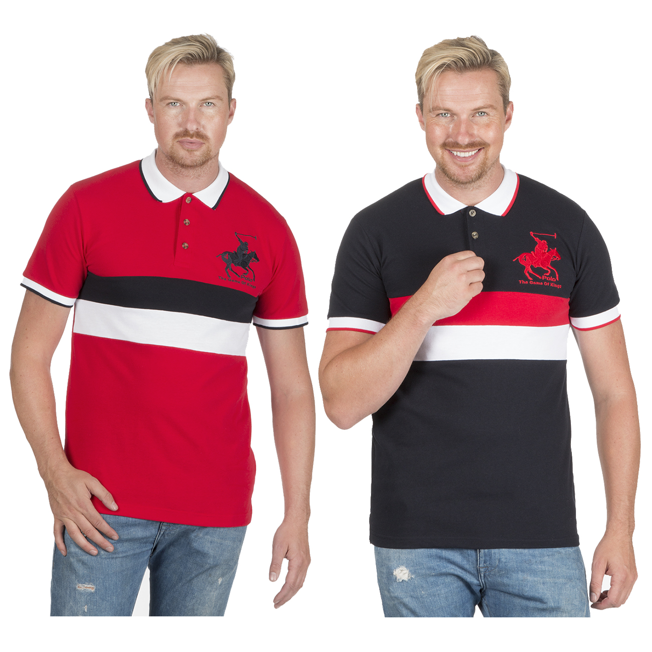 Men/'s Plus Size Polo T-shirt Shirt Short Sleeve Embroidery Tippin Contrast