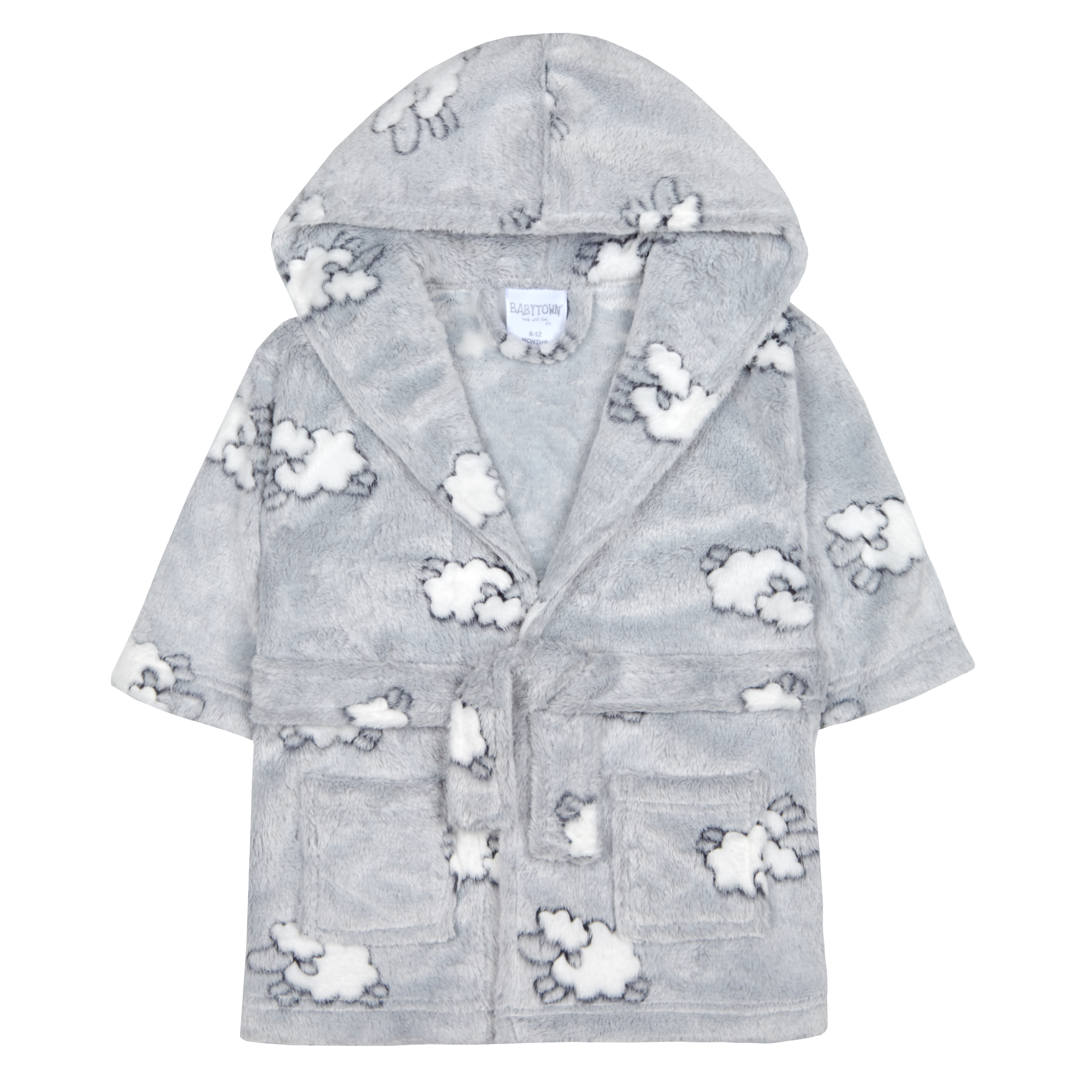 Baby Girls /& Boys Lamb Sheep Dressing Gown Robe Animal Plush Fleece Unisex